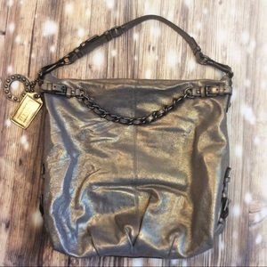Coach Brooke XL Hobo Bag in Gunmetal with Strap